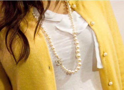 **Yellow and Pearls.