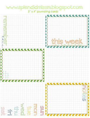 Free printable journaling cards for Project Life