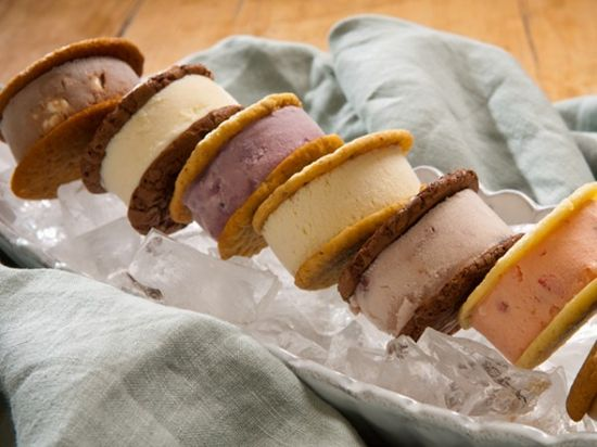 Handmade ice cream sandwiches from Wilmington, NC. Classic and seasonal flavors. Shipped frozen.