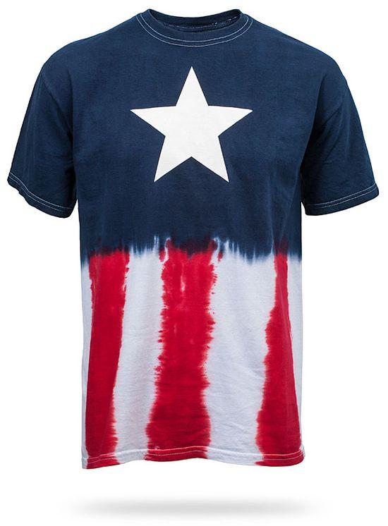 Captain America Tie-Dye