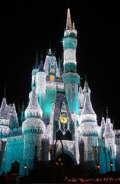 cinderella's castle at christmas...