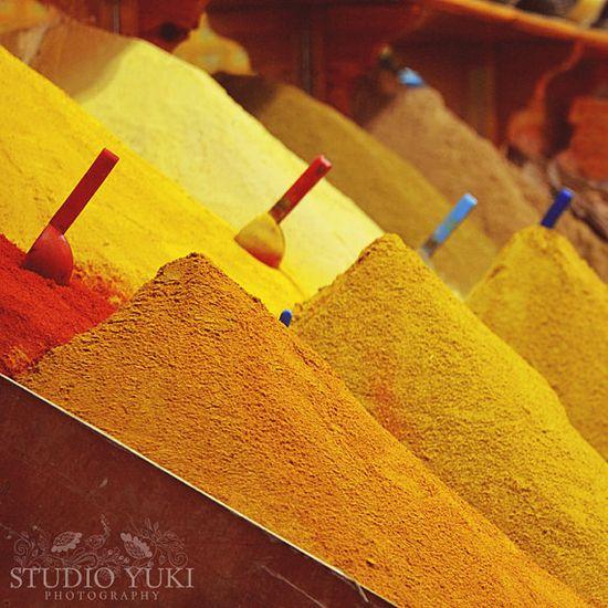 Spices Market Photo Kitchen Decor Travel Photography by Studio Yuki, $15.00
