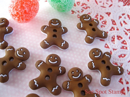 Christmas Gingerbread man buttons