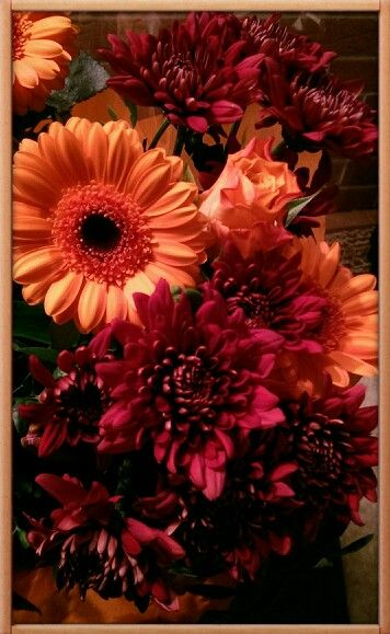 Beautiful flowers bought for me.