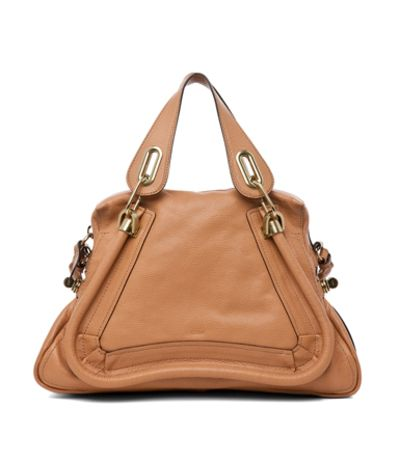 "2013 Chloe ""Paraty"" Large Handbag In Light Tan"