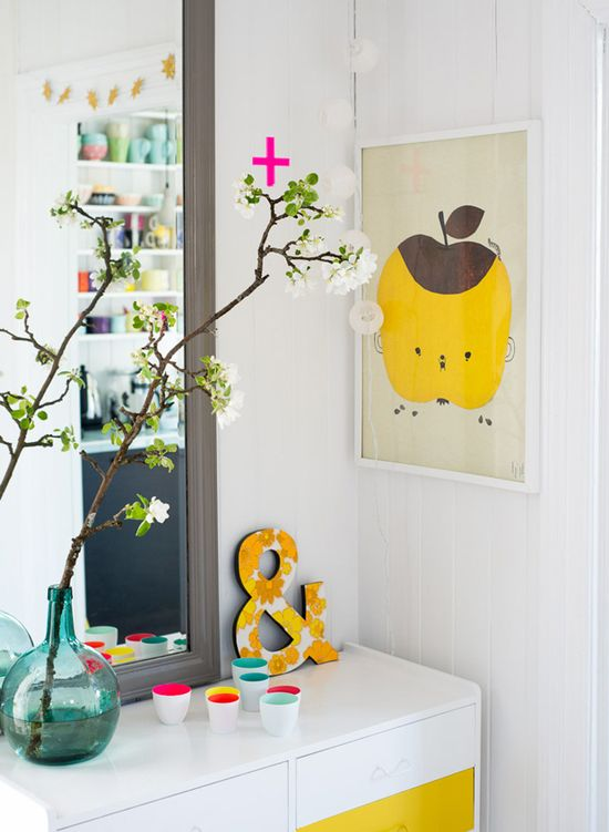touches of yellow #styling #decor