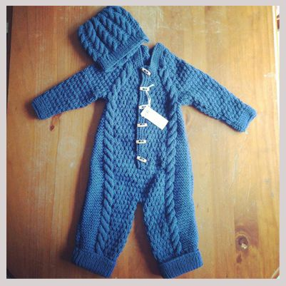 Baby Boy One Piece and  Hat Set