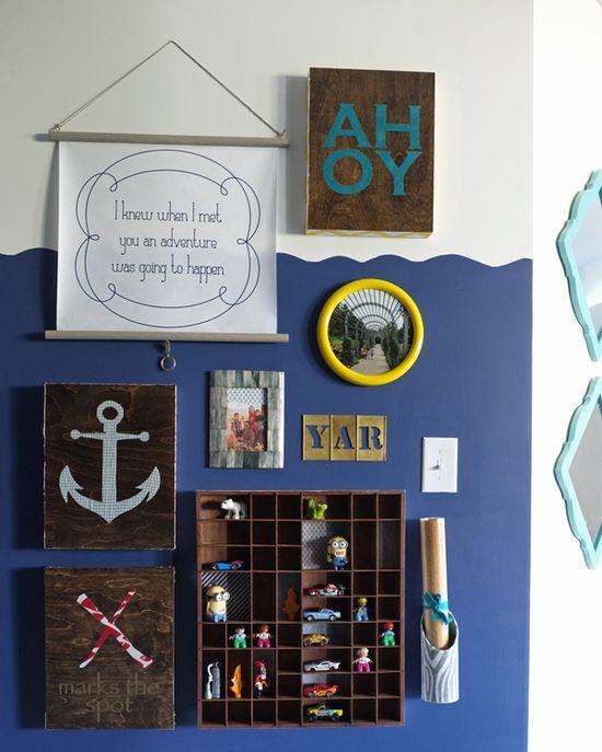 Interactive Pirate Playroom Gallery Wall