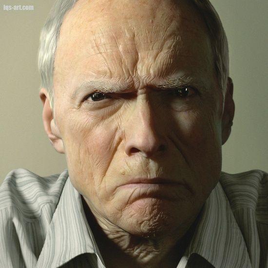 3D Clint Eastwood #3d character #3d char