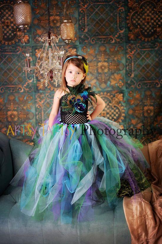 Peacock Tutu Dress - 12m to 4T