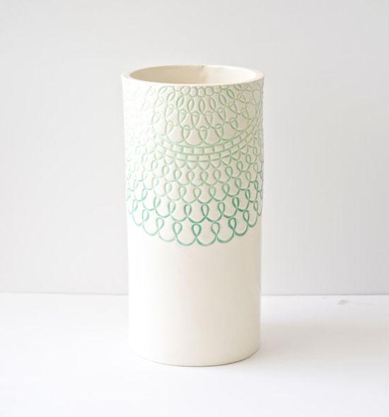 Mint Green Vase