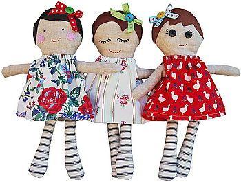 handmade dolls standing