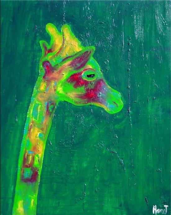 giraffe art @Kathleen S S McCabe