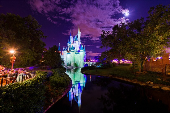 Cinderella Castle by the Light of the Moon