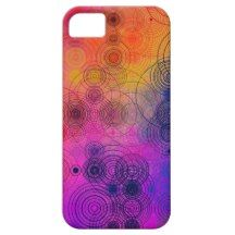 Colorful Concentric Circles Cell Phone Case iPhone 5 Cover