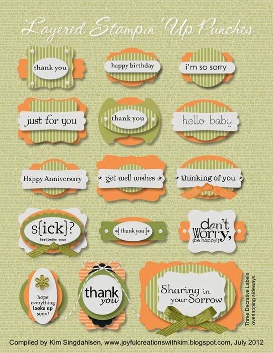 Layered Stampin' Up Punches guide - good reference