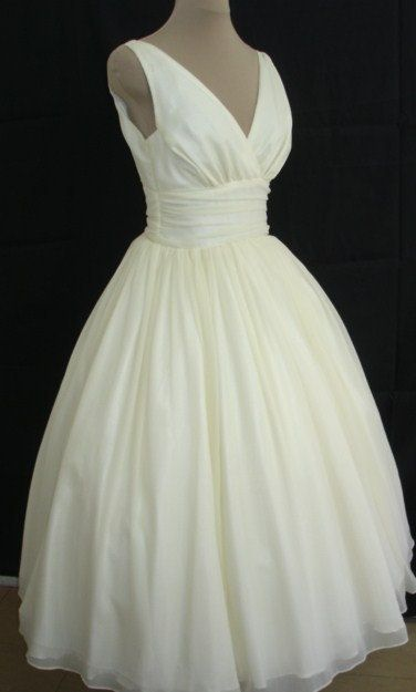 50's wedding dress