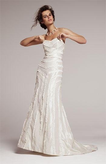 Quirky Bride Look #1: La Fleur by Anne Barge 'Tyler' gown
