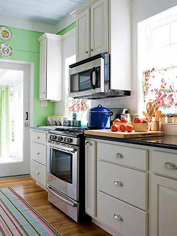 Mint green kitchen