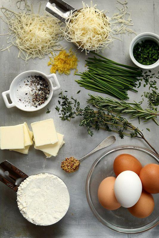 Fresh Herb and Gruyere Cheese Puffs via Joy the Baker