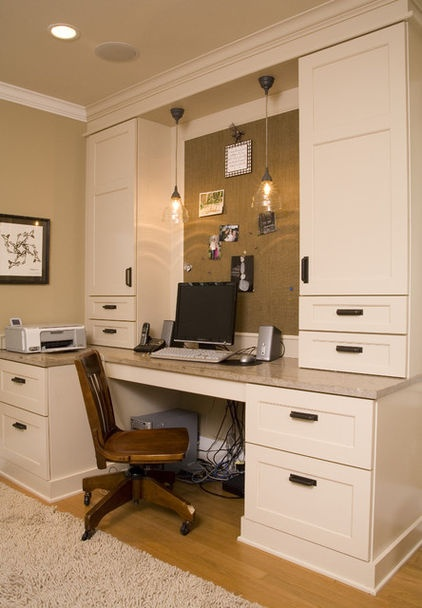 traditional home office by Kayron Brewer, CKD / Studio KB