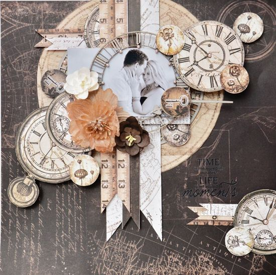 Scrapbook Layout: Time