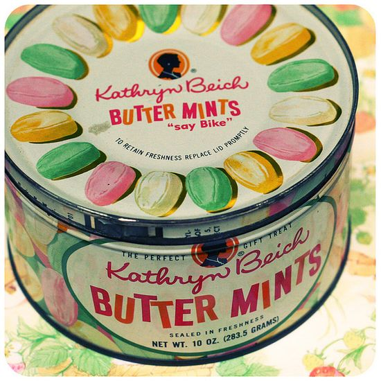 butter mints in a tin ? loved these