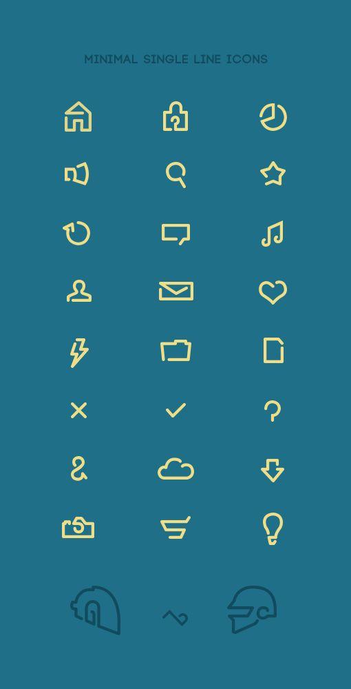 Free Minimal Single Line Icons