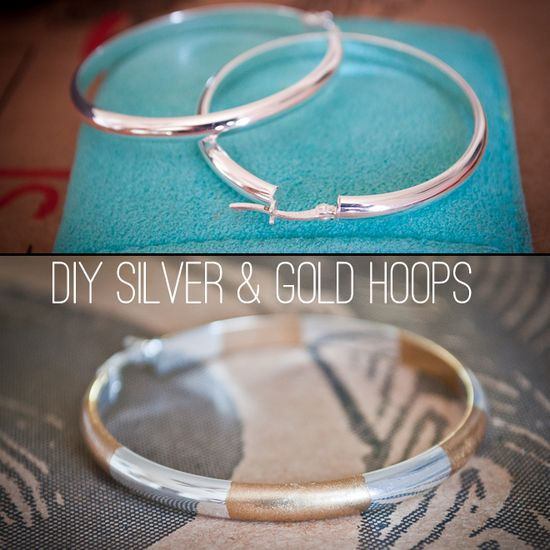 DIY Silver and Gold Jewelry Hoops #diy #jewelry