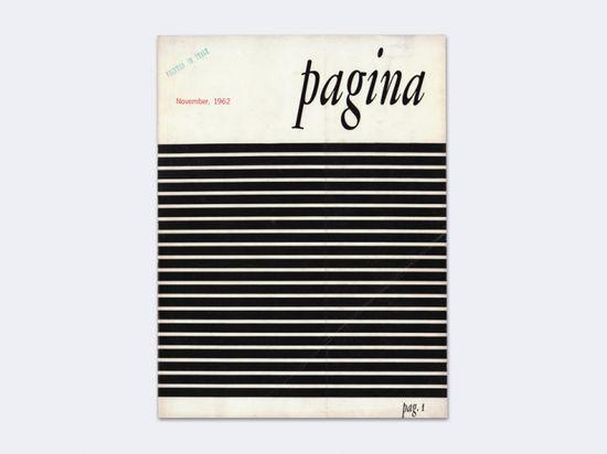 Pagina — International Review of Graphic Design, No. 1 / November 1962, Heinz Waibl