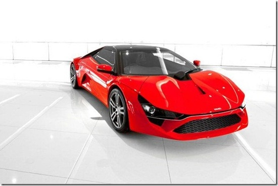 Concept First Sports Car.