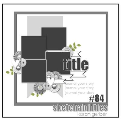 May Page Maps Etc Sketch #4 - Scrapbook.com