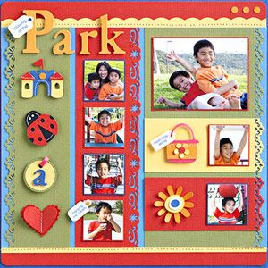 In the Park scrapbook layout