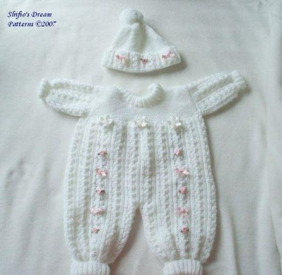Baby Knitting Pattern Pram Suit, Hat, Knitting Pattern 2 Sizes DIGITAL DOWNLOAD 38