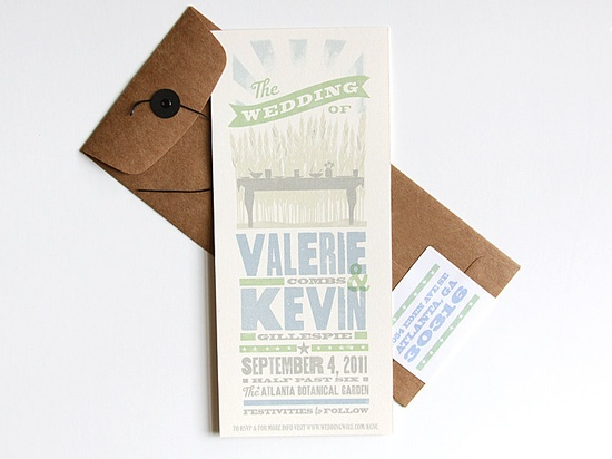 farm to table invite design for Kevin Gillespie & Valerie