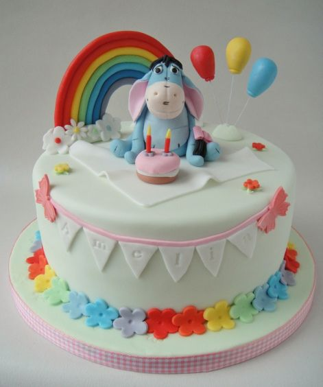 when #uCAKE for a fan of #Pooh then Eeyore and #rainbow shall more than do: