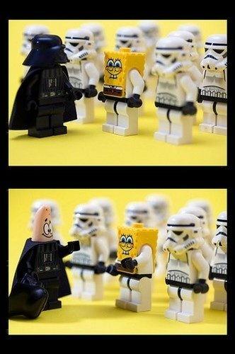 star wars and spongebob