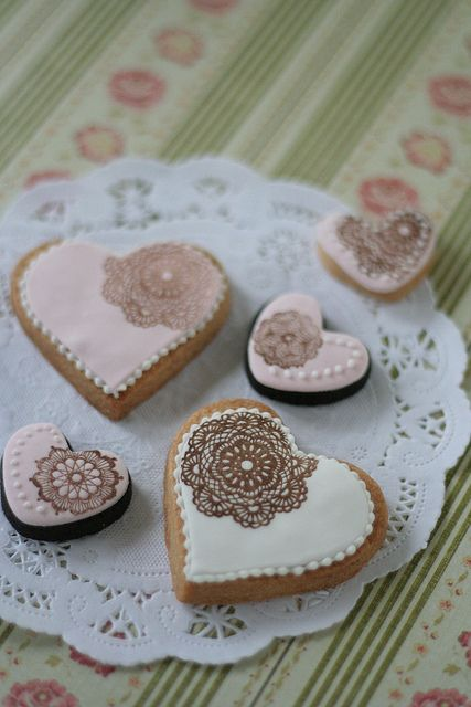 pretty stamped cookies