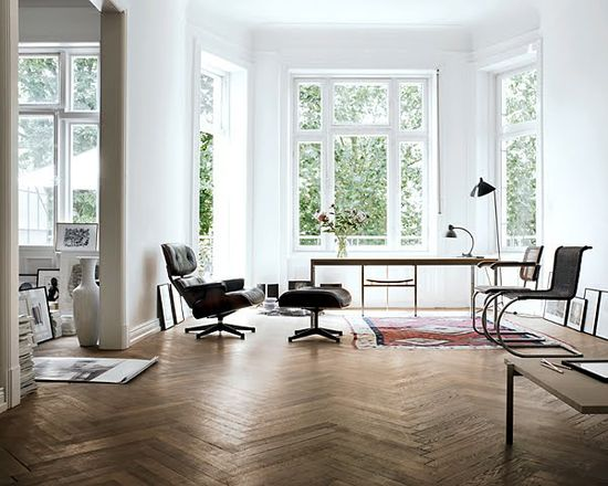 The floor, the Eames chair, the bay window...