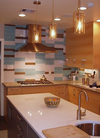 Pretty Kitchen with Turquoise Tile
