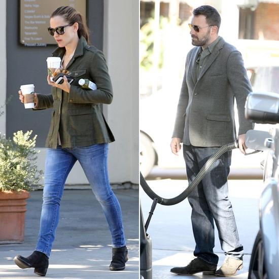 Ben and Jen Team Up For an Errand Run Following Jen's Big Day