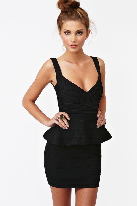 Peplum Bandage Dress $58