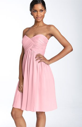 Bridesmaid: Donna Morgan Strapless Silk Chiffon Dress @Nordstrom #WeddingSuite #Nordstrom