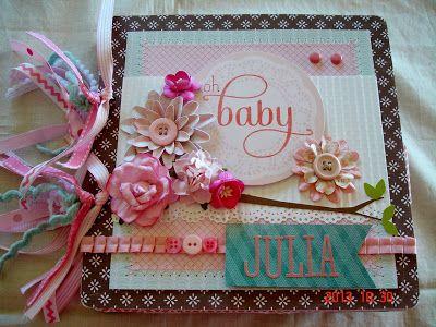 Baby Girl Chipboard Album
