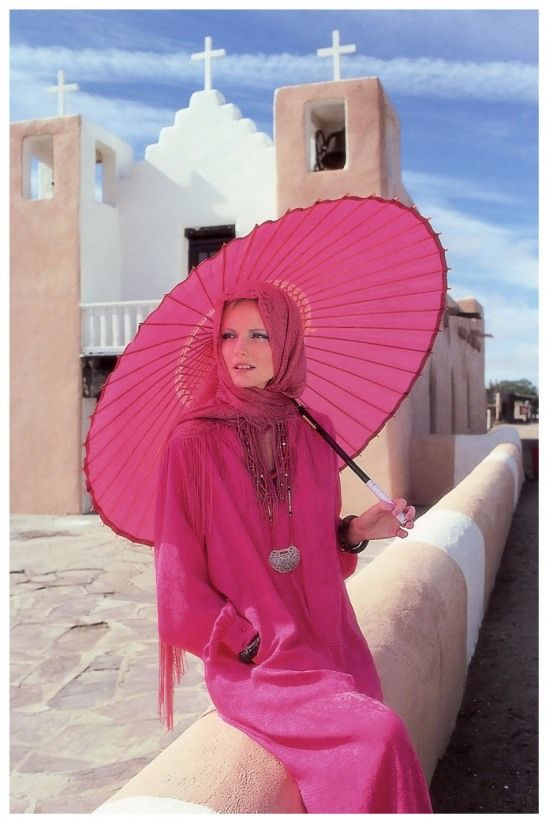 Pink and pink parasol