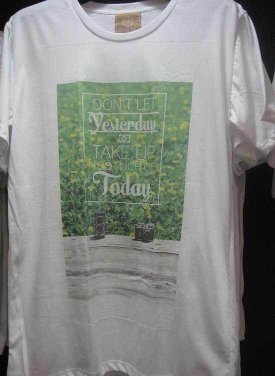 Dont Let Yesterday TAKE UP Too Much Of Today T by goldmemory, $17.00