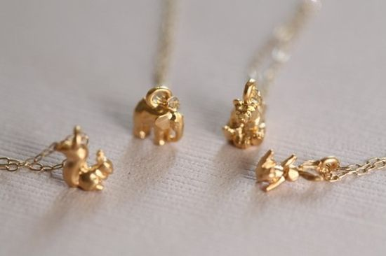 In LOVE with these tiny animal pendants. I mean, it's serious.