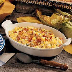 Sour Cream Corn & Bacon Casserole