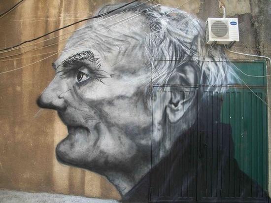 street art in Lebanon . face . 000