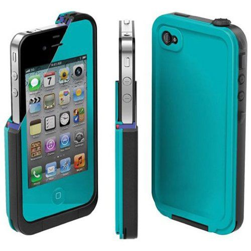Brand New Waterproof Iphone 4 4s TEAL Shockproof by JLElectronics, $13.99